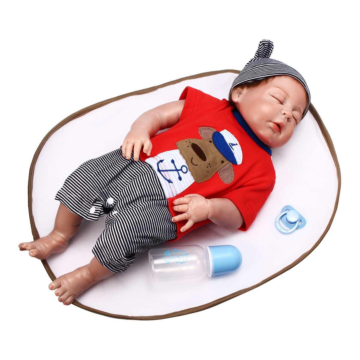 Newborn Boy Doll 23 58cm Reborn Sleeping Baby Silicone Vinyl Lifelike Realistic Adorable Toddler Infant Doll Accessories ToysNewborn Boy Doll 23 58cm Reborn Sleeping Baby Silicone Vinyl Lifelike Realistic Adorable Toddler Infant Doll Accessories Toys