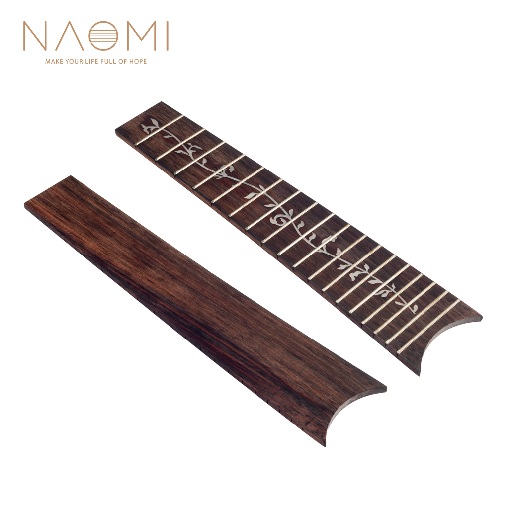 Naomi Guilele Guitalele Fretboard Rosewood Fingerboard W/ 18 Frets Tree Of Life Fretboard For Guilele High Quality New Musical Instruments