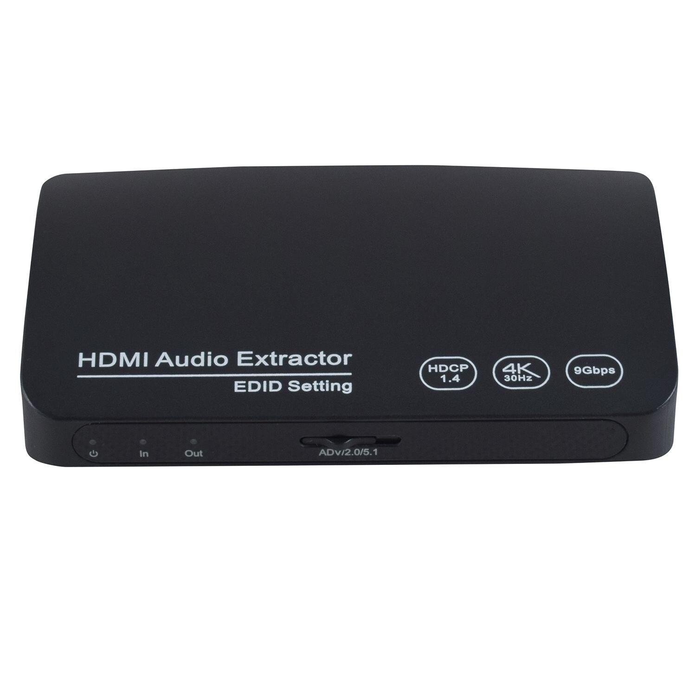 ray Pc Laptop Xbox Ein Hdtv 4 Karat X 2 Karat 3d Hdmi Zu Hdmi Optische Spdif 3,5mm Stereo Audio Extractor Konverter Für Blau