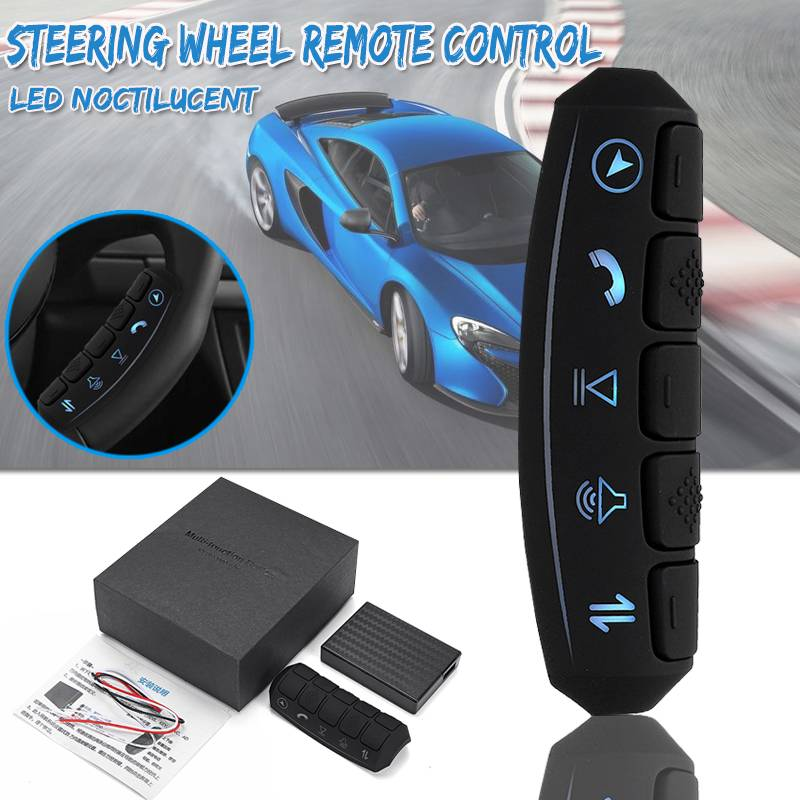 Universal LED backlight Control remoto inalámbrico coche volante 10 botones Control remoto Coche