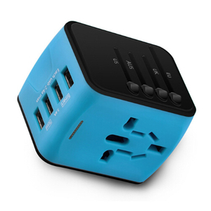 Image 5 - Универсальный адаптер зарядного устройства FORNORM для путешествий, адаптер с 4 USB разъемами по всему миру, электрическая розетка, вилка стандарта США, Великобритании, ЕС, Австралии для путешествий