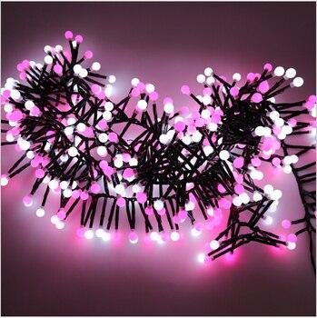 Ciepły Biały Christmas Fairy Lights String Xmas Wedding Party Odkryty Decor Lampy