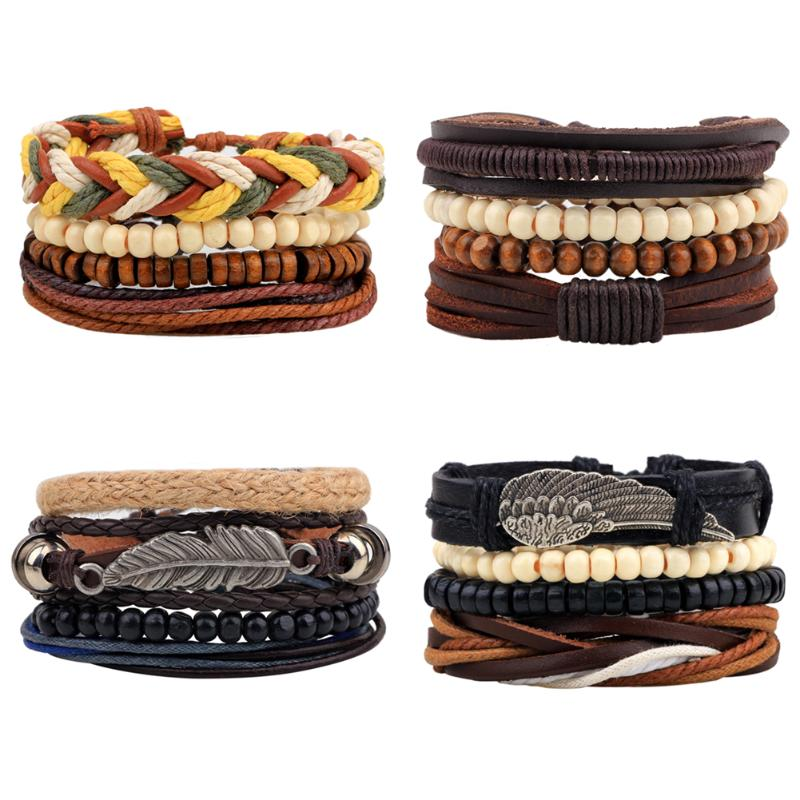 Capable Unisex European Fashion Beads Wooden Bead Knit Diy Alloy Bracelet Jewelry & Accessories