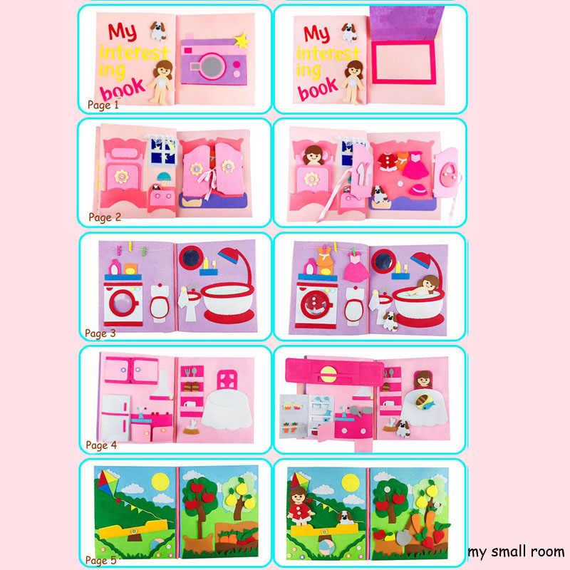 Merasa Tenang Buku 5 Gaya DIY Pertama Saya Pesan Pengembangan Mainan Anak Bayi Anak Awal Kognitif Merasa DIY Paket Buatan Tangan Khusus hadiah