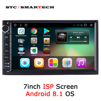 SMARTECH 2 Din Android 8.1 OS Car Radio GPS Navigation Autoradio Support 3G WIFI OBD Bluetooth DAB DVR TPMS Rear view Camera