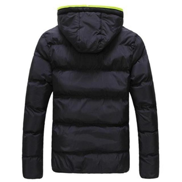 2019 Winter Cotton Warm Outwear Parka Winter Jacket Men Hooded Collar Coat Mens Warm Down Casual Coats with Zipper Pocket 4