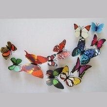 12 шт 3D Бабочка Брошь Наклейка на стену для дома занавес свадебное украшение