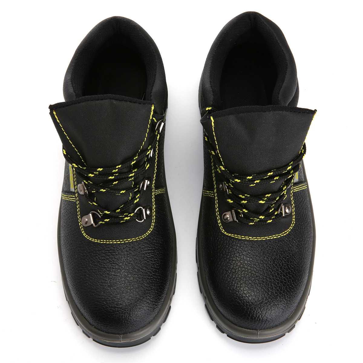 Couro Desporto Pu Nis Caça Sapatos Botas Com Homens Caminhadas Biqueira Anti Novo Soldagem Atrego Aço De Trabalho esmagamento Ankle Segurança Boots BEHHwqx4
