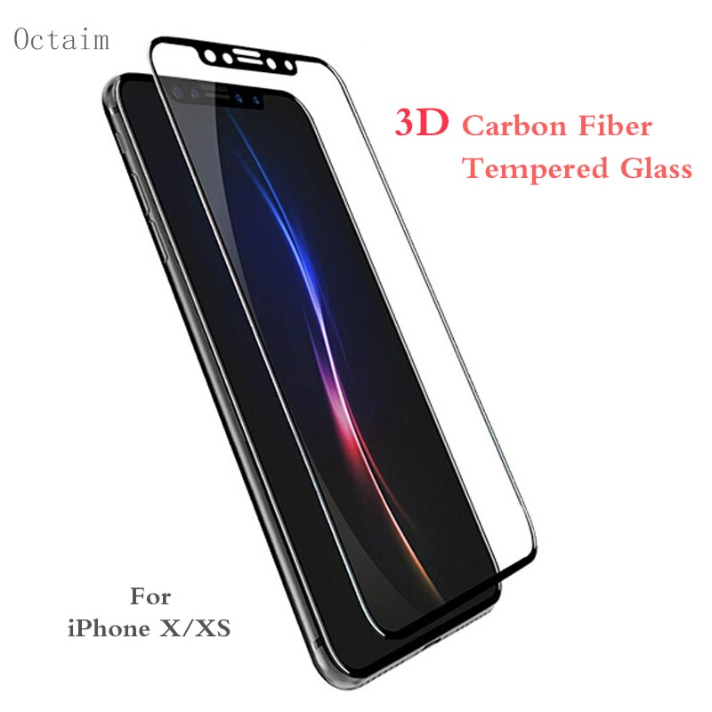 9H Tempered Glass for iPhone X XS Max XR 3D Full Cover Carbon Fiber Soft Edge Screen Protector for iPhone 8 6S 7 Plus Glass Film9H Tempered Glass for iPhone X XS Max XR 3D Full Cover Carbon Fiber Soft Edge Screen Protector for iPhone 8 6S 7 Plus Glass Film