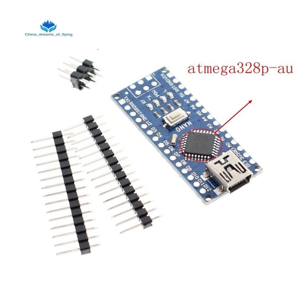 TZT 1PCS  Mini USB With The Bootloader Nano 3.0 Controller Compatible For Arduino CH340 USB Driver 16Mhz NANO V3.0 Atmega328