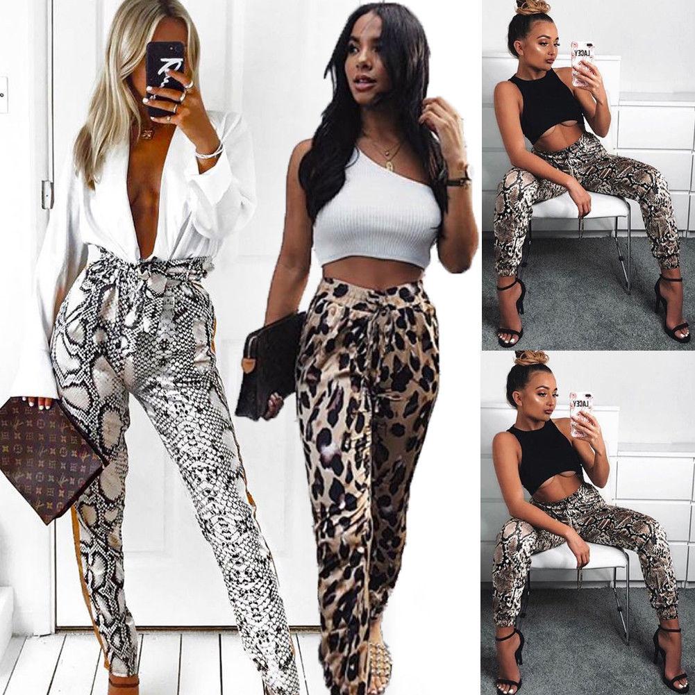 Autumn New Women Casual   Capris   Leopard Harem Sport   Pants   Slacks Long Trousers Sexy Sweatpant Fashion Streetwear