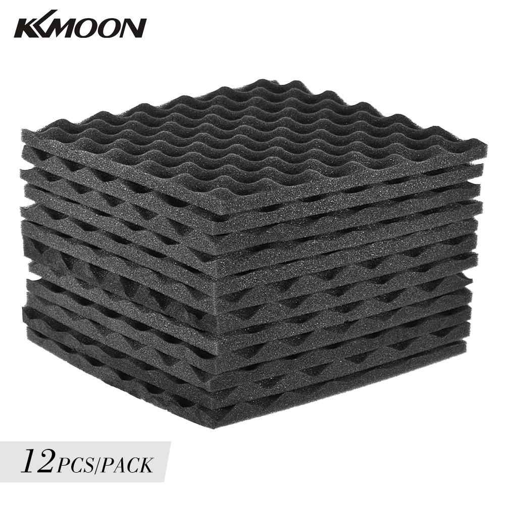 12 Pack Studio Acoustic Foams Panels Sound Insulation Foam 30 * 30cm/ 12 * 12in For Recording studios Control rooms Vocal booth