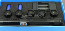 HOT! Powerful 450nm 100000m 100W Strong power Military blue laser pointer LED burn match candle lit cigarette wicked Lazer Torch