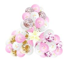 15pcs 12 inches Latex Unicorn Balloons Rose Gold Confetti Balloon Party Decoration Birthday Supplies