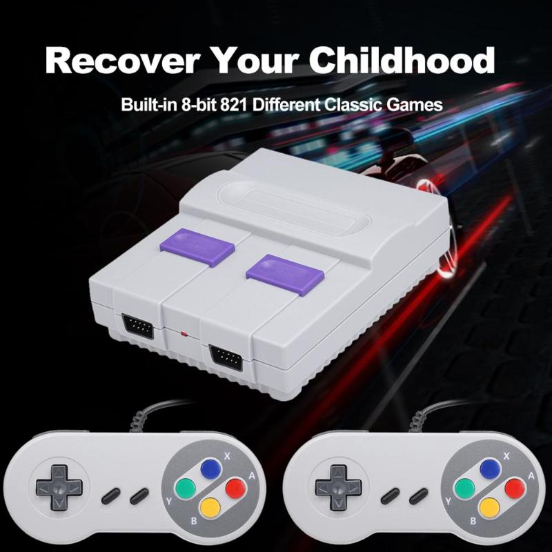 SN-02 Mini Video Game Console HD HDMI TV Built-In 821 Classic Games Portable Retro Handheld Game Playerw/ Dual Gamepad Hot Sale