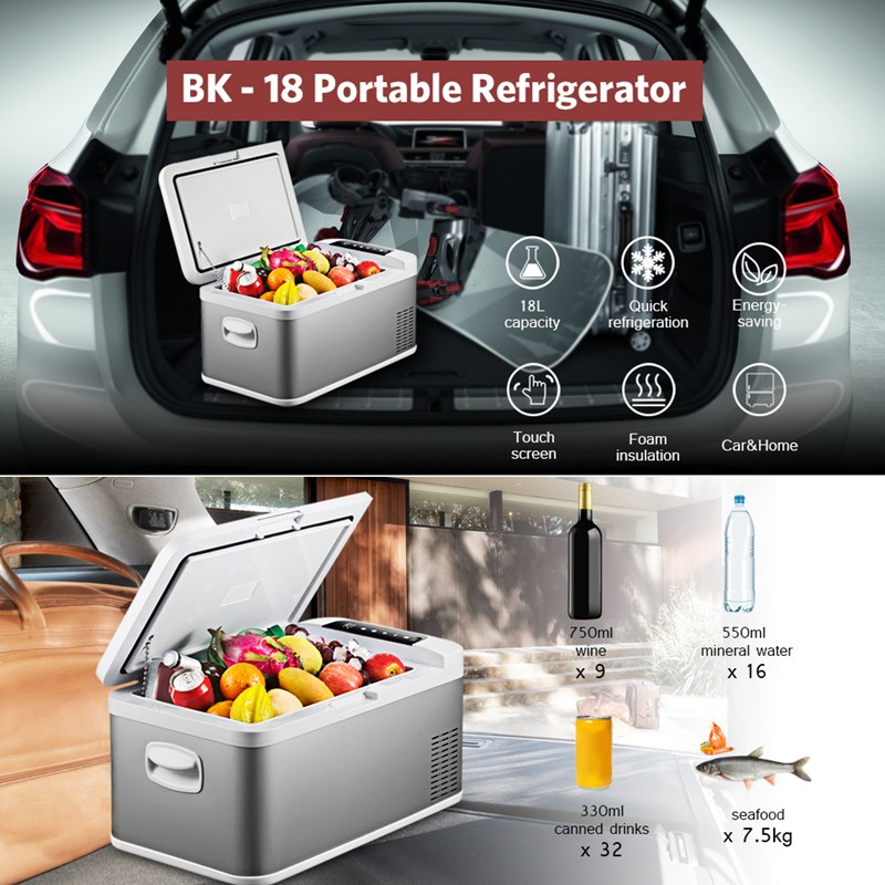 18 L High Quality Portable Refrigerator for Car Home Picnic Camping Party Shock Resistant With Portable Handles Freeze Fridge