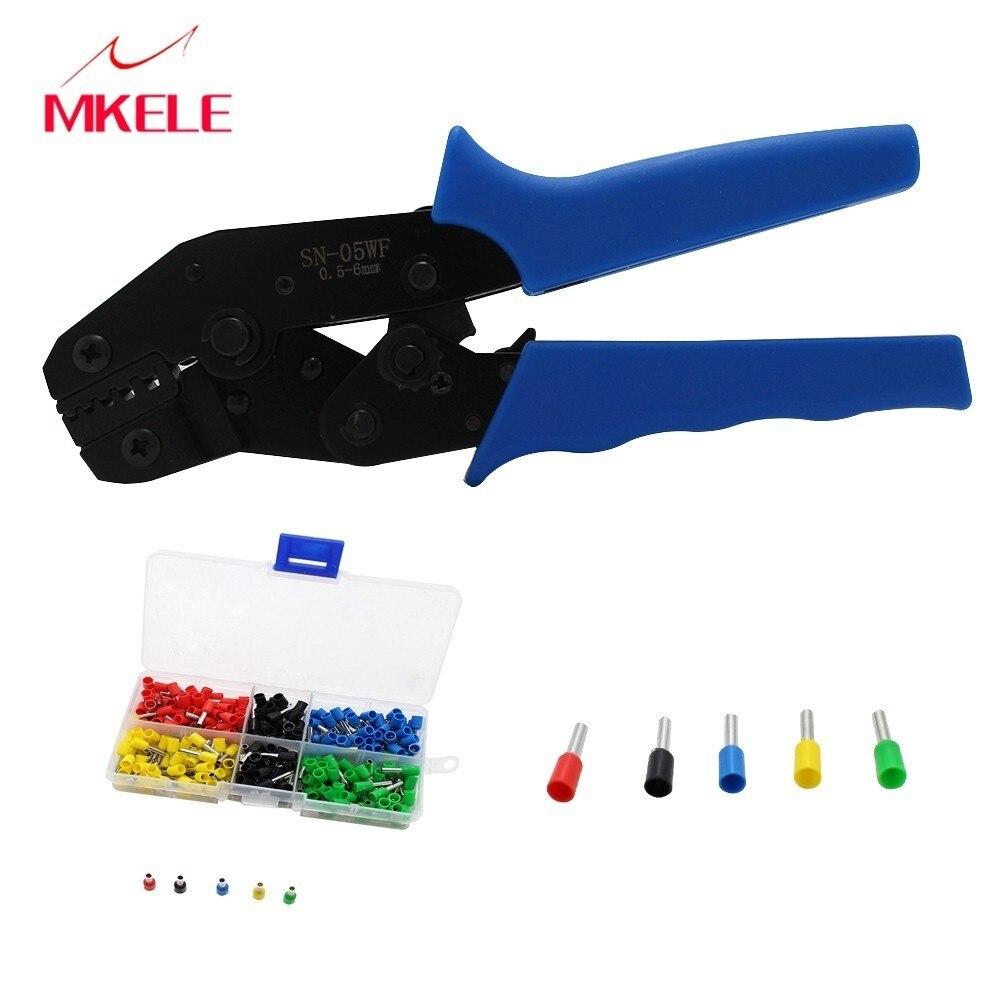 Werkzeuge Handwerkzeuge Crimpen Zangen Sn-05wf Mini Runde Nase Zange Rohr Nadel Terminals Mit E2508 5a 300 Pcs Box Isolierte Stecker Crimpen Werkzeug