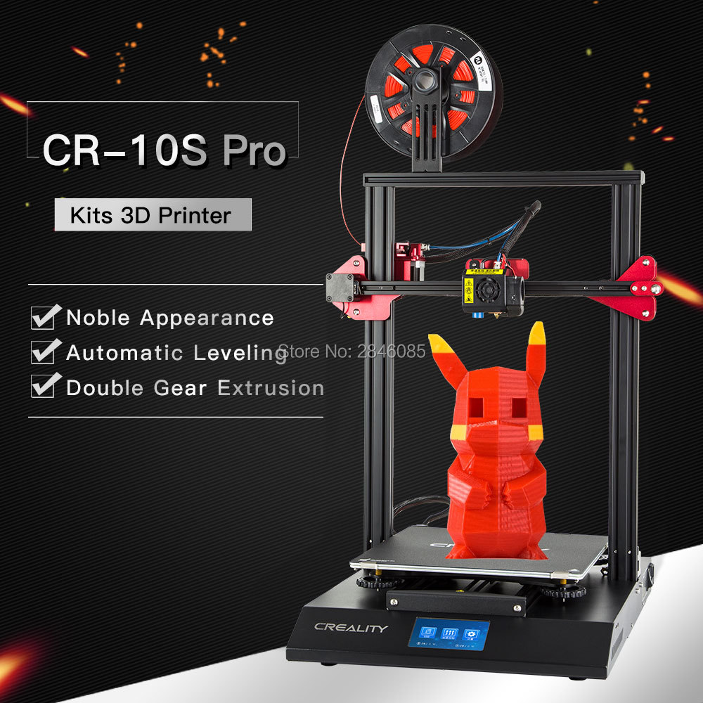 CREALITY 3D CR 10S Pro Auto Leveling Sensor Printer 4.3inch Touch LCD Resume Printing Filament Detection Funtion MeanWell Power-in 3D Printers from Computer & Office