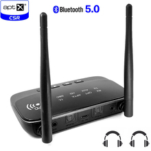 3.5mm jack 80m Long Range Wireless aptx hd bluetooth 5.0 stereo AUX audio Music transmitter Receiver