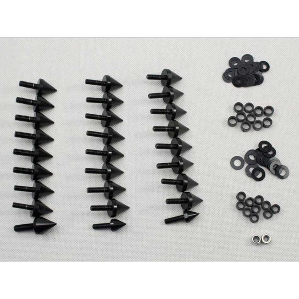 Kit de boulons à vis pour carénage de moto pour Honda 1993-2003 Fireblade CBR900RR CBR929RR CBR954RR accessoires noir/argent