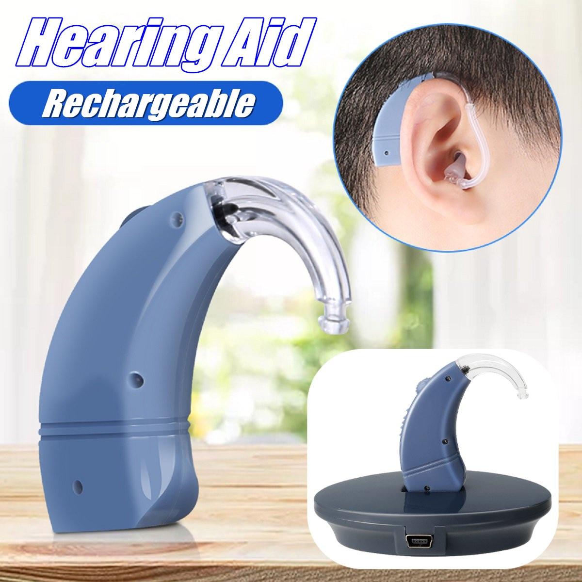 Mini amplificateurs auditifs numériques rechargeables sans fil pour aides auditives réduction intelligente du bruit poids léger imperméable