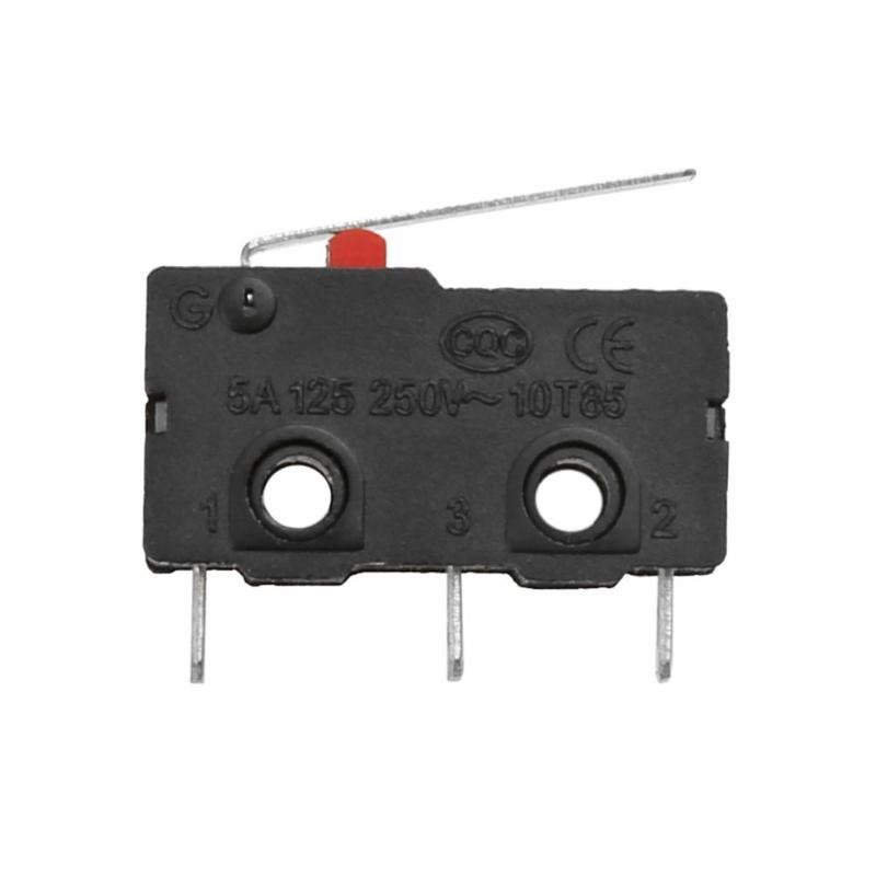Limit Switch 3Pin N/O N/C 5A 250V AC KW11-3Z Micro Switch For 3D Printer Part Roller Lever Endstop High Quality