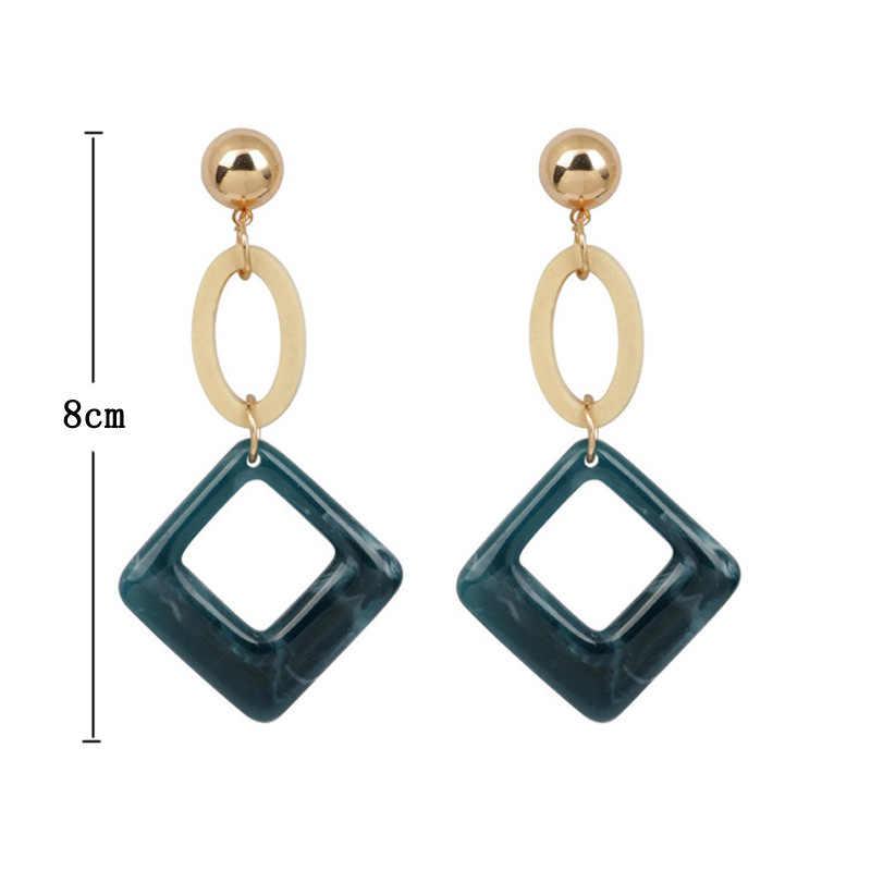 Оптовая продажа овальная деревянная серьга длинное эффектное геометрический квадратный серьги в форме капли для Для женщин серьги, ювелирные изделия Oorbellen