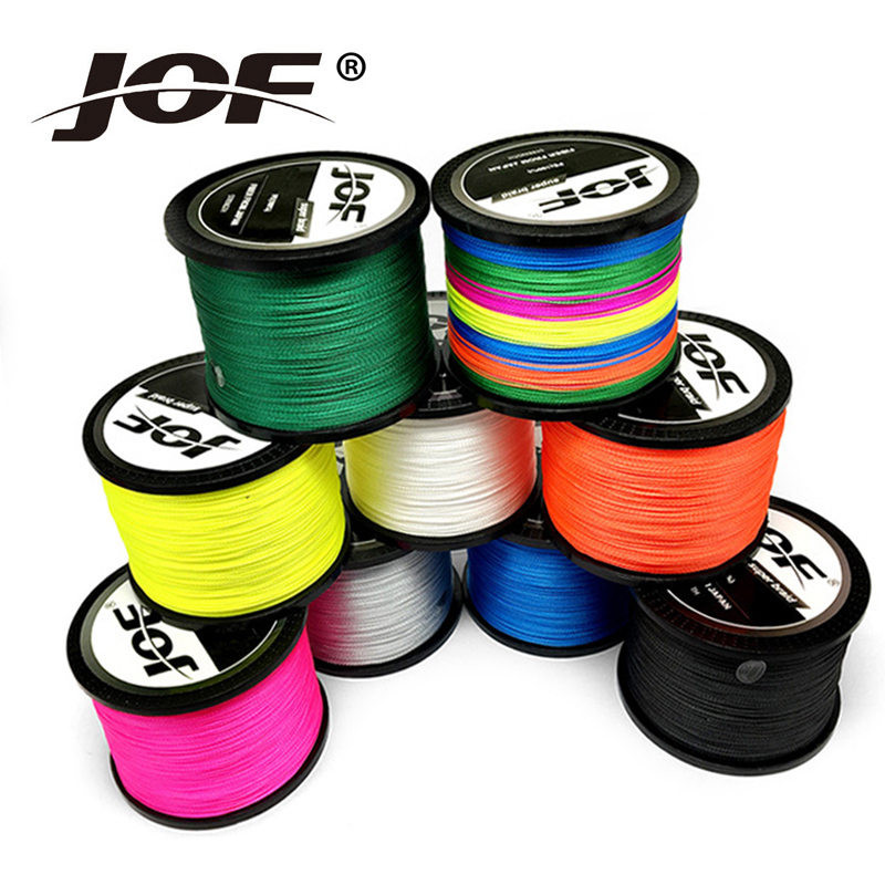 JOF Colorful 8 Strands Braided Fishing Line 500M Multifilament PE Fly Lines Super Strong Carp Fishing Wire 13 78LB|Fishing Lines|   - title=