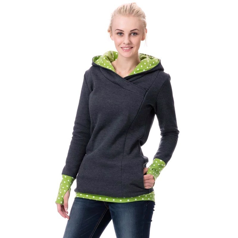 bf33d6f2c5042 Autumn Winter Warm Nursing Maternity Hoodies For Pregnant Women  Breastfeeding Pregnancy Hooded Top Maternity Lactation Sweater-in Hoodies  from Mother & Kids ...
