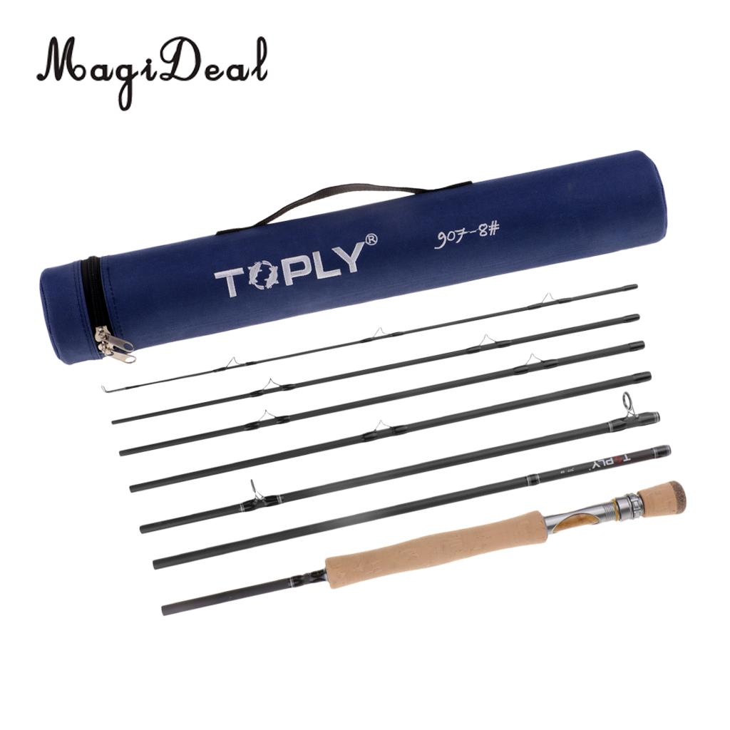 Traveler Fly Fishing Rod 7 Piece 9ft 46T Carbon Fiber Blank Fly Rod 7/8wt with Tube Case fly fishing combo 5wt 9ft carbon fiber fly rod