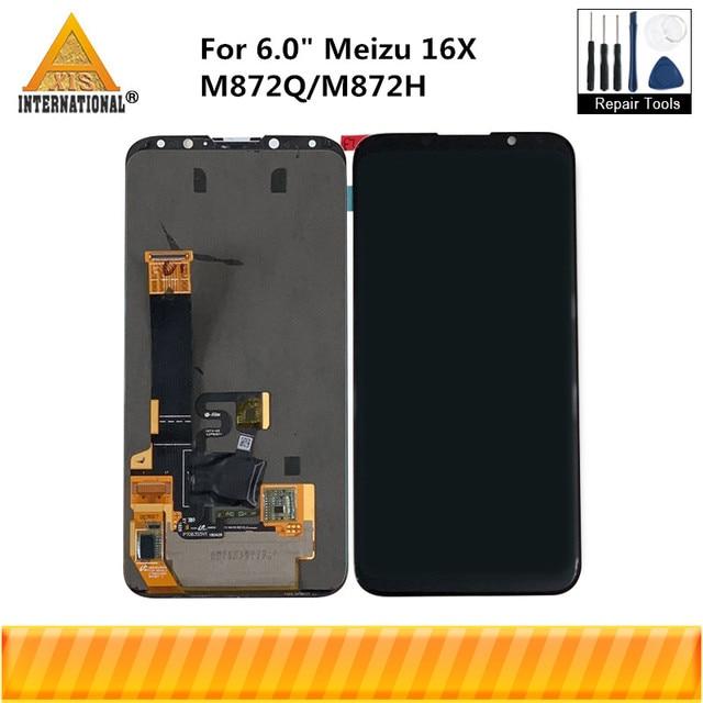 "Original 6.0"" For Meizu 16X 16 X M872Q Axisinternational AMOLED LCD Screen Display+Touch Panel Digitizer For 16X M872H Display"