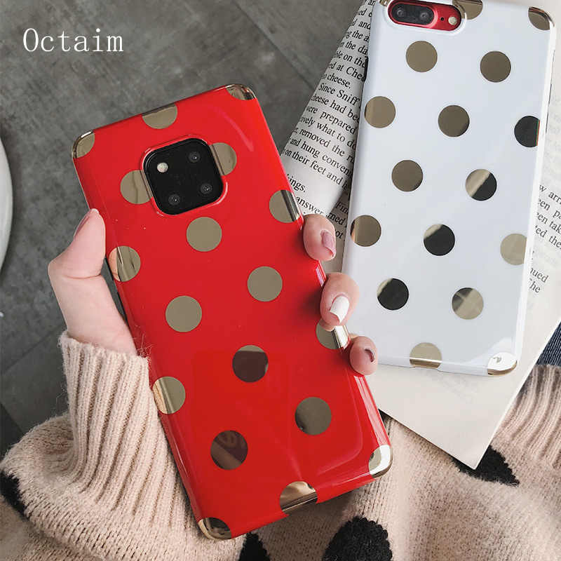 Case For Huawei P20 Pro Mate 10 20 Pro X Cute Wave Point Fashion TPU Soft Silicon Phone Case For Honor 10 Nova 3i 2S Cover Coque