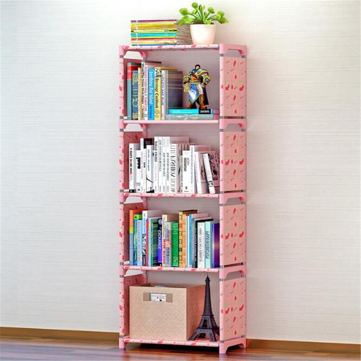 Simple Bookshelf Book Storage Shelf For Books Plants Sundries Furniture DIY Combination Shelf Floor Standing Children Bookcase