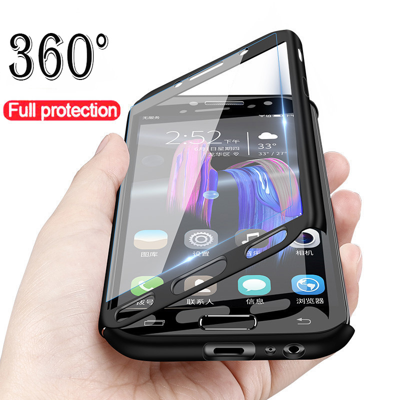 360 Full Protection Luxury Cover Cases For Samsung Galaxy A50 A30 M20 A8 A6 J4 J6 Plus A750 2018 S9 S8 S10 Plus Note 9 8 S7 Edge(China)