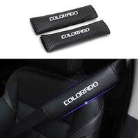 עבור שברולט רפלקטיבית רכב סיאט חגורת הכתף רפידות בטוח חגורת בטיחות Cover עבור שברולט קולורדו רכב סטיילינג Auto Parts 2pcs (1)