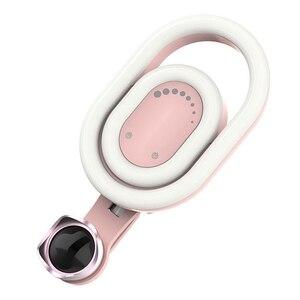 Image 2 - 뷰티 필 라이트가있는 휴대 전화 카메라 렌즈 라이브 셀카 부드러운 스키니 페이스 광각 외부 전화 렌즈