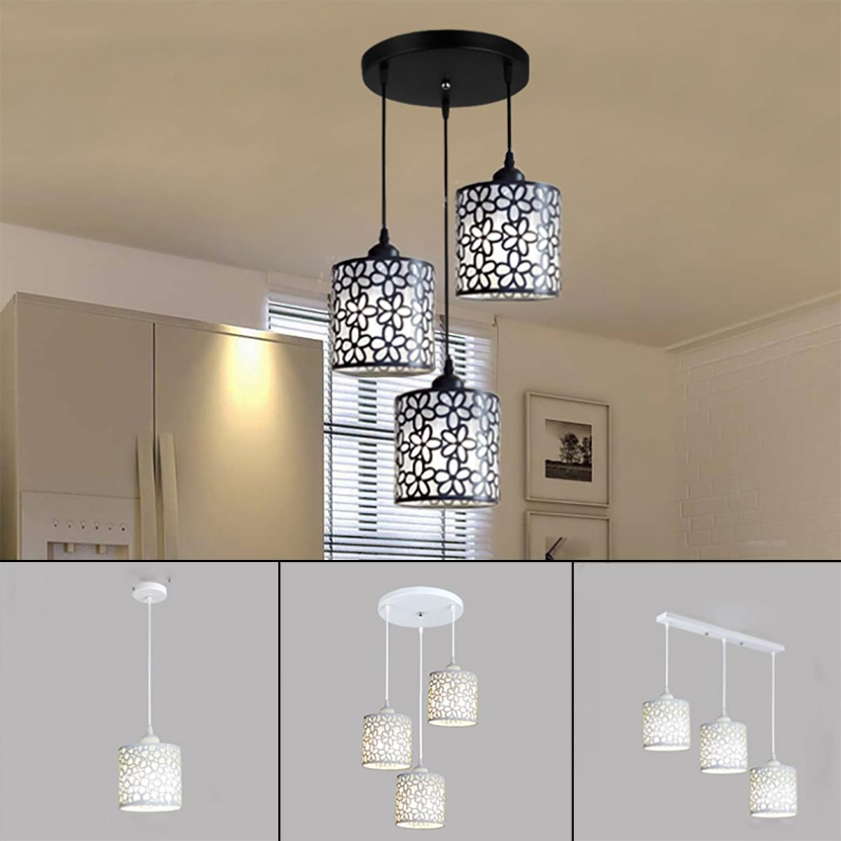 Modern Nordic Pendant Lights Fixtures Iron Hollow Out Chandelier Pendant Lamp Home Decoration For Dining Room Bedroom Shop Bar