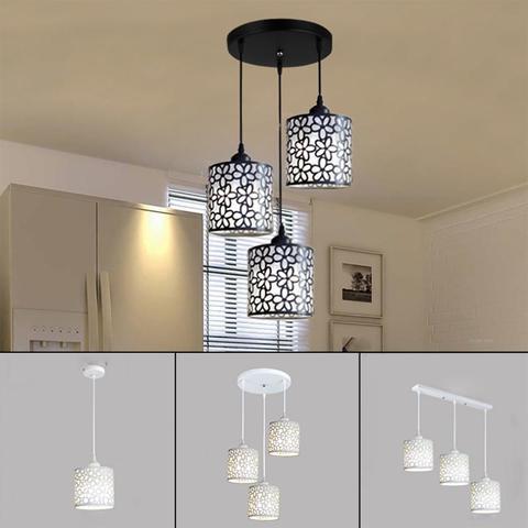 luminarias pendentes nordicas modernas lustre vazado de ferro lampada pendente para decoracao de casa sala