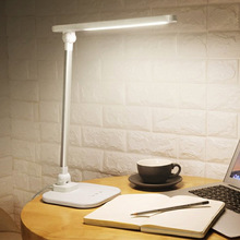 QUKAU Led table lamp children learning desk lamp LED eye reading lamp battery charge usb light color dimmable стоимость