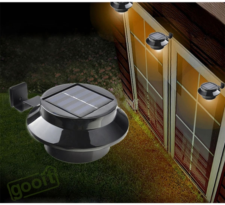 solar panel outdoor lights walkway solar power light fence gutter garden yard wall pathway lamp black landscape 3led solarpowered outdoor aliexpresscom buy lamps mosaic led