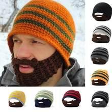 ea9d6a7e98a Unisex Winter Warm Thermal Hat Outdoor Sport Knitted Crochet Beard Hat  Beanie Mustache Cycling Face Mask