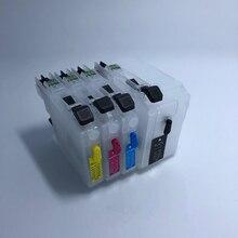 купить Empty Refillable ink cartridge for brother lc129 lc125 lc 129 lc 125 for brother MFC-J6520DW/ J6720DW/ J6920DW дешево
