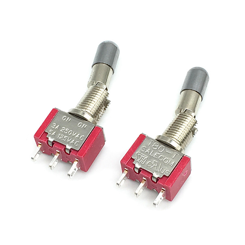 2pcs SH <font><b>T8013</b></font>-LKBQ Locking Lever 3Pin 2Position ON-ON SPDT Mini Toggle Switch Self Locking image