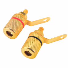 цена на 10pcs/lot Speaker Audio Terminal Connector Gold Plated Binding Post Speaker Cable Amplifier Terminal Banana Plug Jack