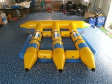 цена на High quality outdoor water amusement equipment, water inflatable toys, PVC material 6 people flying fish boat banana boat for sa