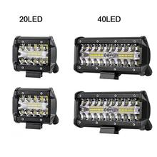 40LED 120W Strip Light Car Roof Spotlights Modify Roof Auto Work Light For Off Road Vehicle