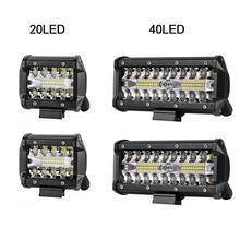 40 светодиодный 120 W полосы света автомобилей крыша прожекторы изменить крыши светильник для ремонта автомобилей для внедорожного для грузовиков ночь светодиодный свет лампы крыше автомобиля