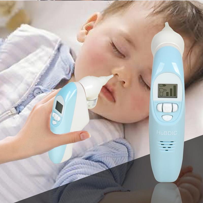 Aspirateur Nasal bébé aspirateur électrique à 3 forces d'aspiration 2 pointes de nez écran LCD lampe de poche sécurité et hygiène musicales