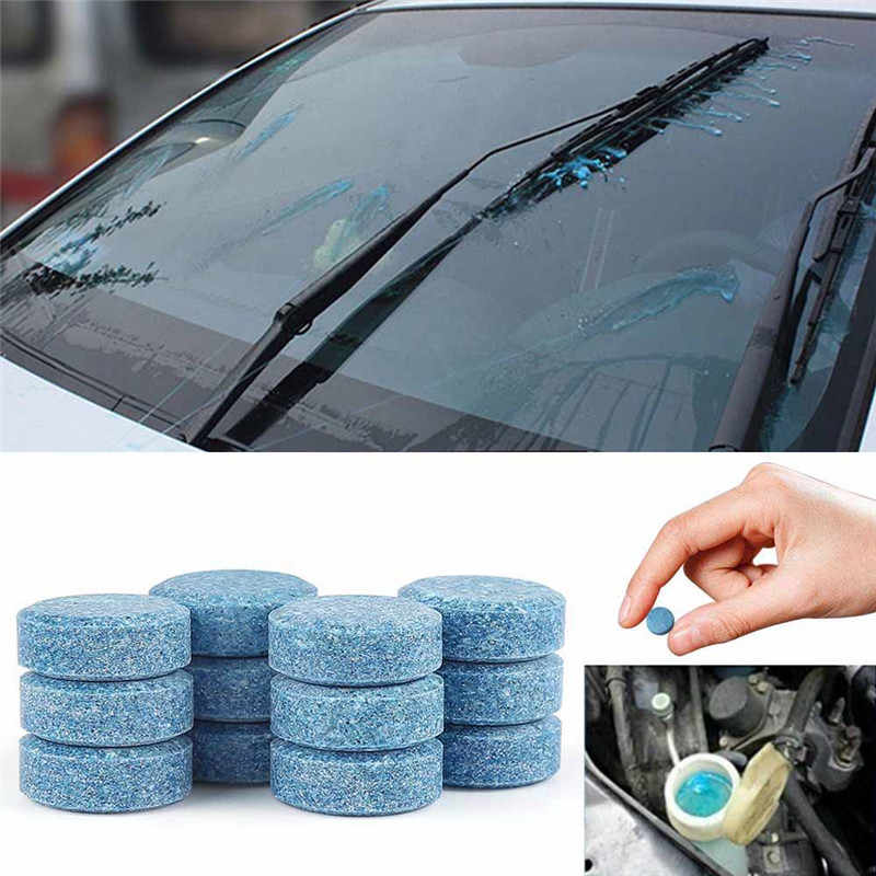10pc (1pcs=4L) Effervescent Spray Car Cleaner Solid Wiper Fine Auto Window Windshield Glass Cleaner Auto Products Car Accessory