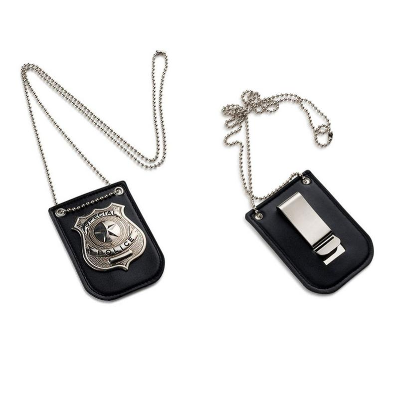 Dress Up Pretend Play America Police Special Badge With Chain And Belt Clip New America Police Role Play Toy